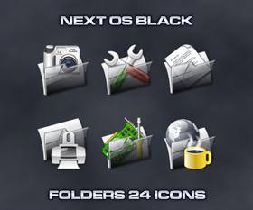 Next OS Black Folders