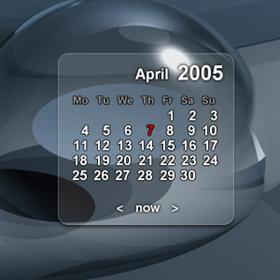 Glassy Calendar widget
