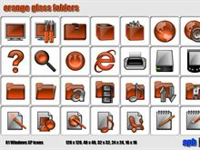 Orange Glass Folders