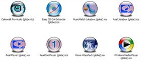 Multimedia Apps 1 XP Icons (Globe)