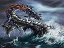 Sea Serpent by ~maxarkes