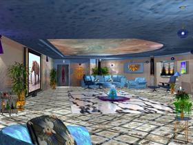 Bronze & Blue Room