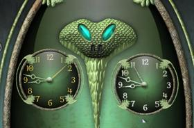 Slytherin House Clock