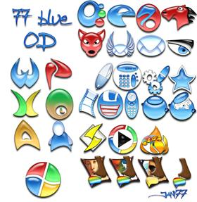 77 blue OD