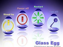 Glass Egg ( Transparent Power Button )