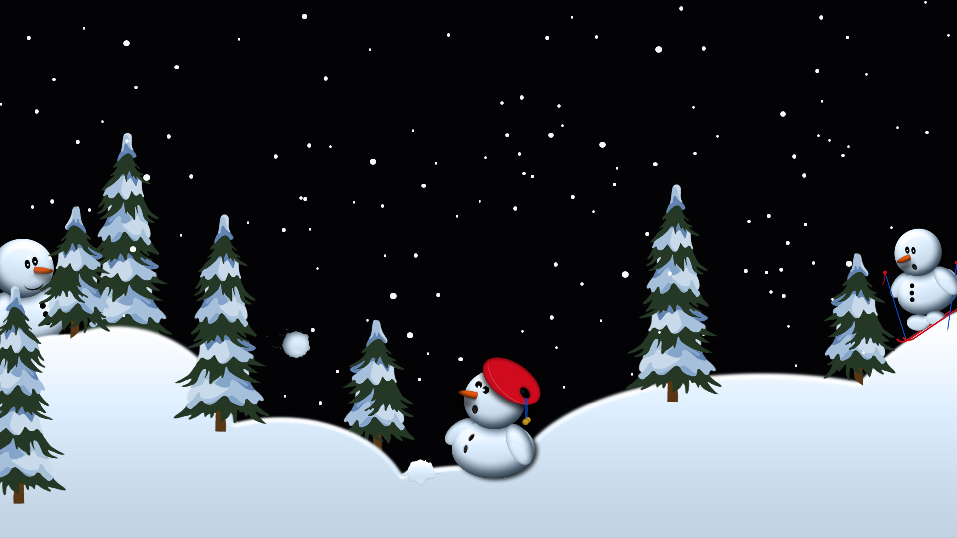 snowmen playing
