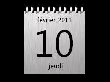 Brushed Calendar 1.1