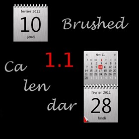 Brushed Calendar 1.1