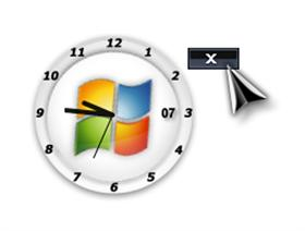 vista analog clock update for my dxtheme by q94
