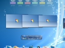 Windows 7 Glass and Blue 3D