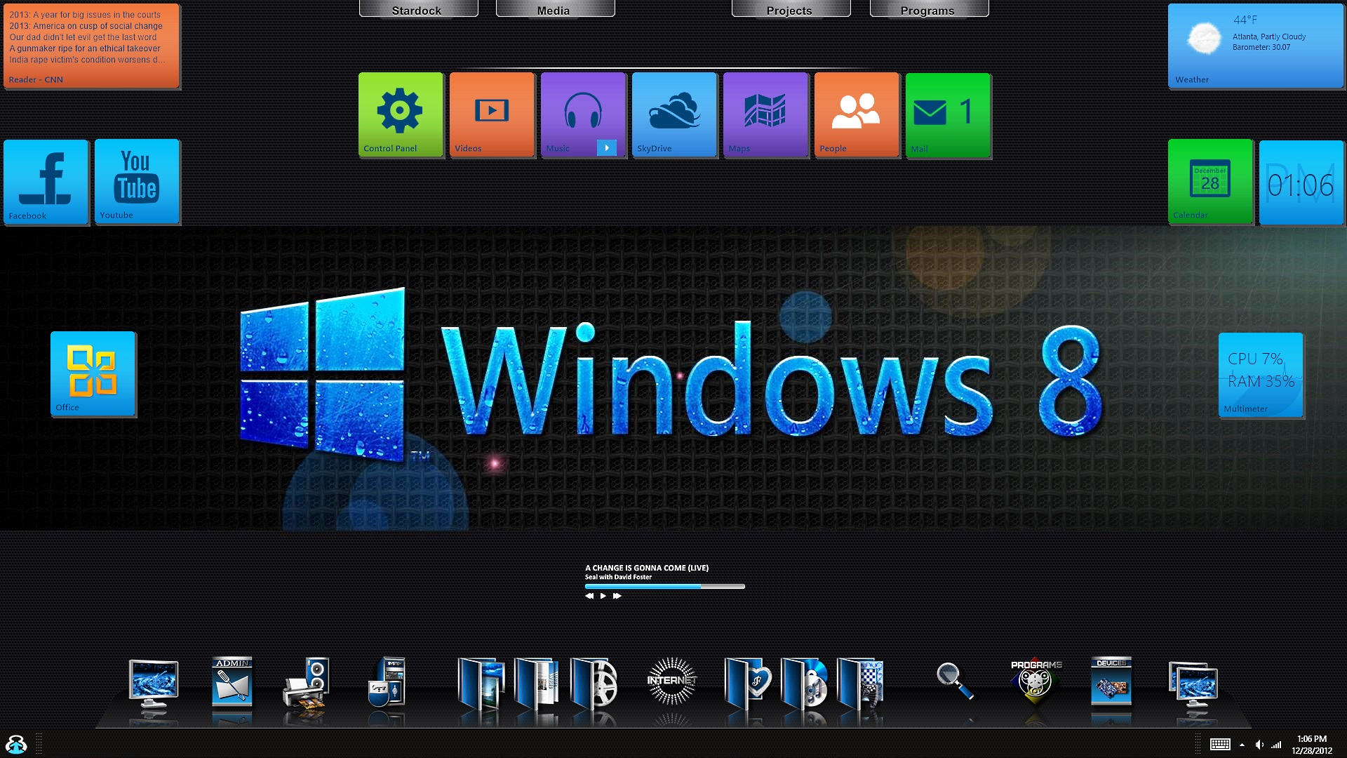 Windows 8 Pro Blue