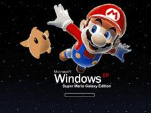 Windows XP Super Mario Galaxy Edition Stars