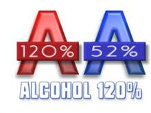 Alcohol 120% and 52%