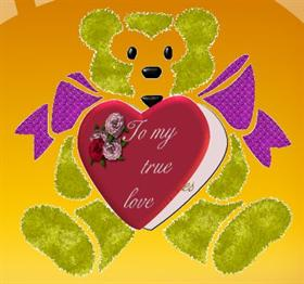 Bear Valintine Card