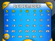 Shiny Blue Calendar