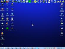My dark blue desktop