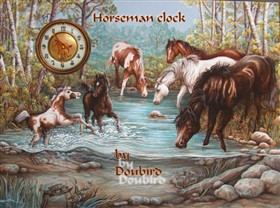 Horseman clock