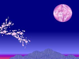 cherry blossom moon