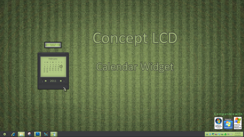 Concept LCD Calendar Widget