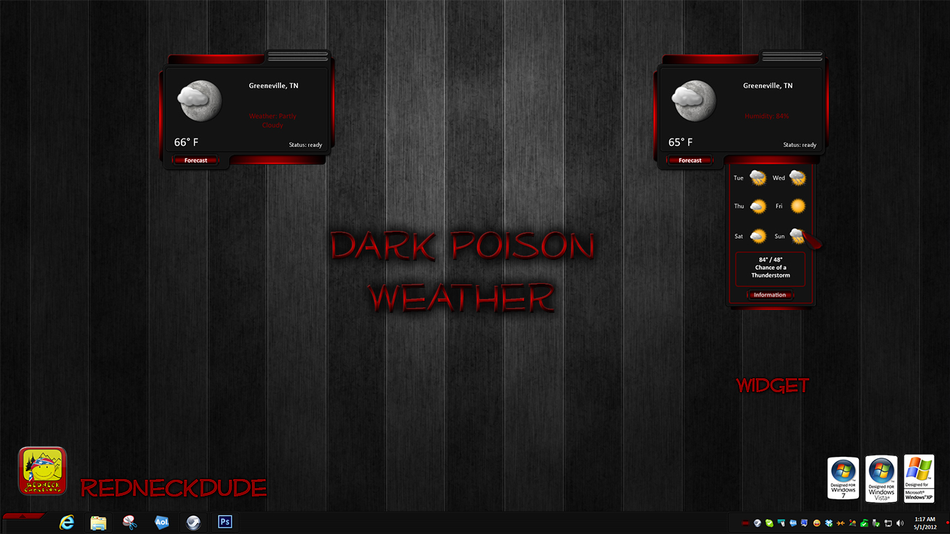 Dark Poison Weather Widget