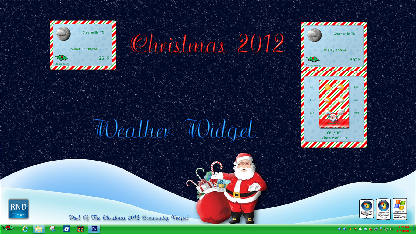 Christmas 2012 Weather Widget