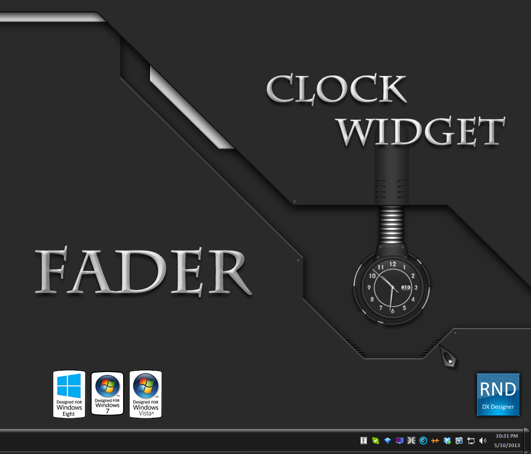 Fader Clock Widget