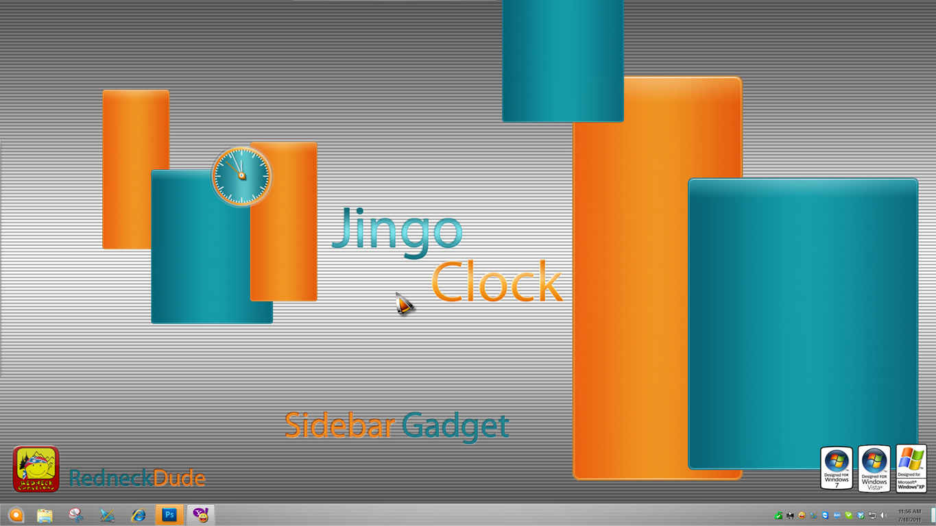Jingo Clock Sidebar Gadget