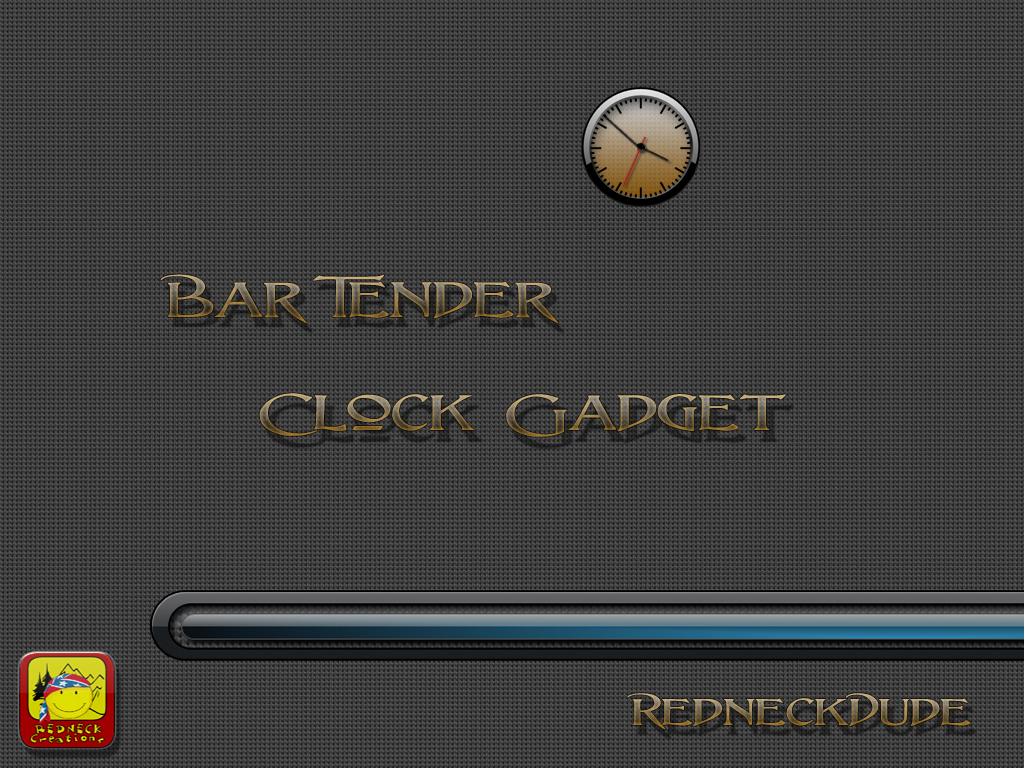 Bar Tender Clock Gadget