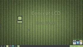 Concept LCD Clock Gadget