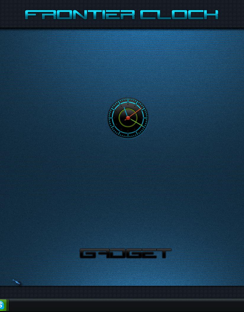 Frontier Clock Gadget