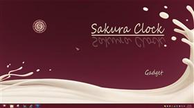 Sakura Clock Gadget
