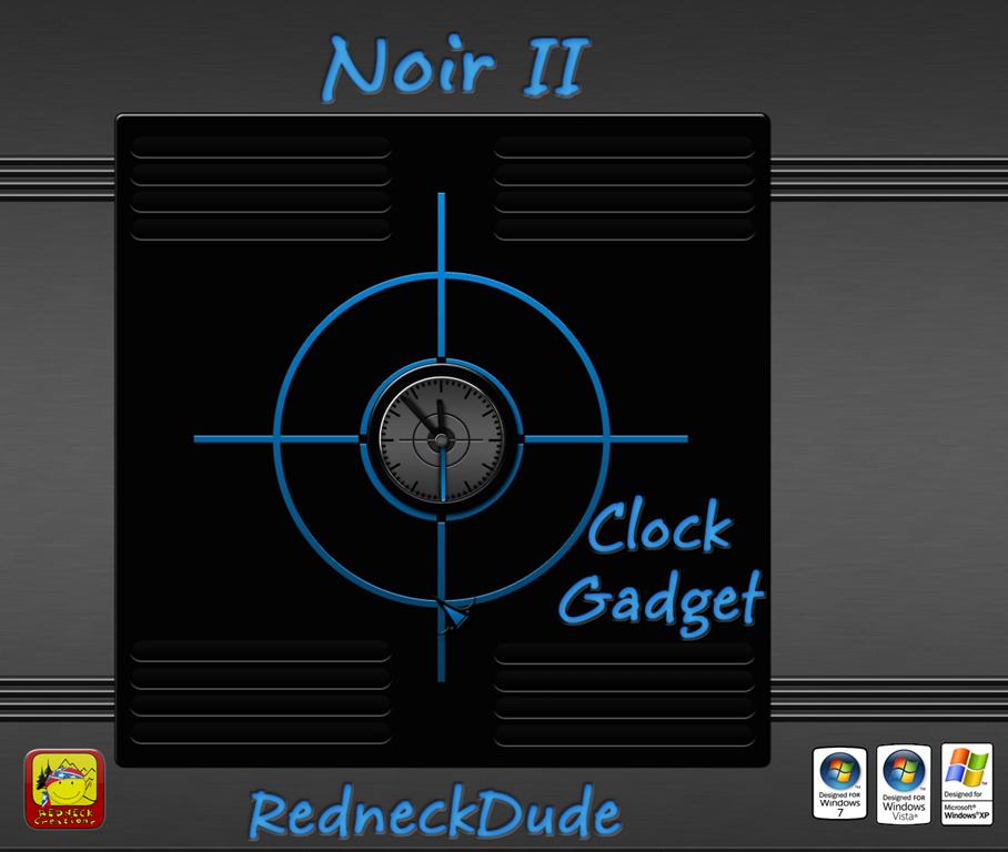 Noir II Clock Gadget