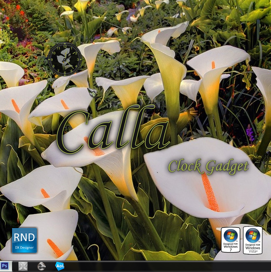 Calla Clock Gadget