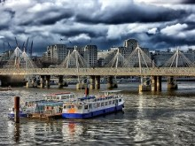 HDR London River Storm