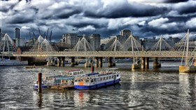 HDR London River Storm