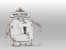 Art, the punk rocker robot