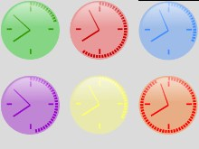 Neon Clock