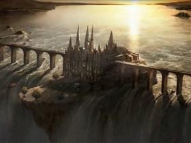 castle bridge waterfall