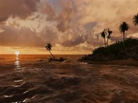 palm island sunset