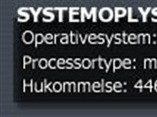 Systemoplysninger med baggrund (Danish)