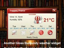 Gloss Burgundy Weather Widget