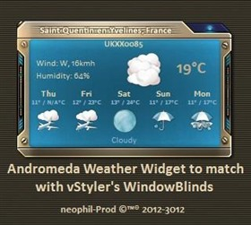 Andromeda Weather Widget V 1-5