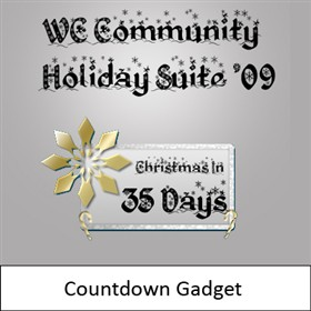 WC Community Holiday Suite '09 - Countdown Widget