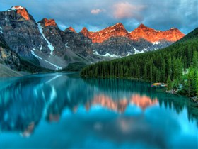 Alberta Lake and Mountain