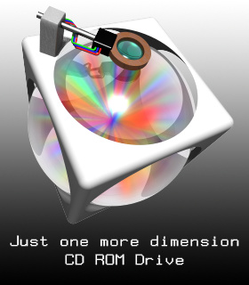 CD ROM drive (Just One More Dimension)