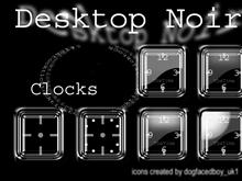 Desktop Noir ClockPack 1