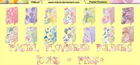 Pastel Flowered Folders