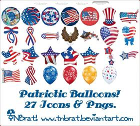 Grand Old Flag Balloons