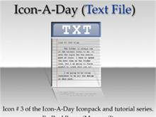 Icon-A-Day #3 (Text File)