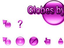 Globes by Jim - Purple